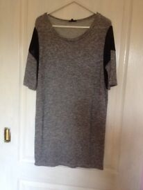 RIVER ISLAND grey knit dress size 6
