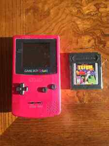 Gameboy Color with Tetris