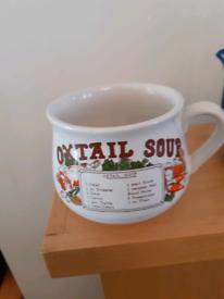 Vintage Oxtail Soup Mug