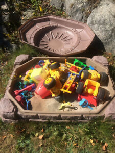 Sandbox- child's picnic table-pirates ship