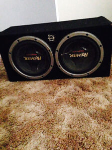 "2 12"" pioneer subs with amp and sub box!"