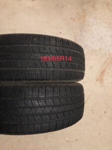 2 pneus 185/65R14 Kumho