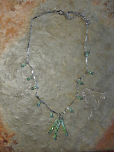 NEW dainty green necklaces (comes with box) *gift idea*
