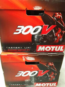 MOTUL 300V 4L MOTORCYCLE ROAD RACING 10W40 OIL ON SALE $58.00