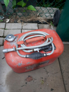 Outboard gas tank