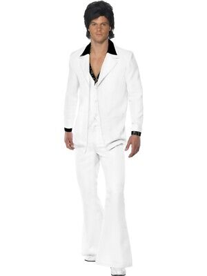 Discoanzug weißer 70er Jahre Anzug Herren white suite Disco - 70er Jahre Disco Fever Kostüm