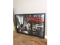 Large poster with frame