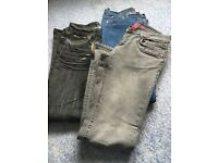 3 pairs of skinny jeans size 10...