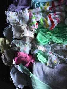 Baby girl 0-3 months clothing, smoke free, bag 10