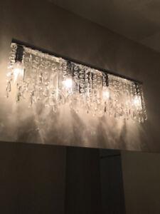 4 Light Crystal Vanity Light