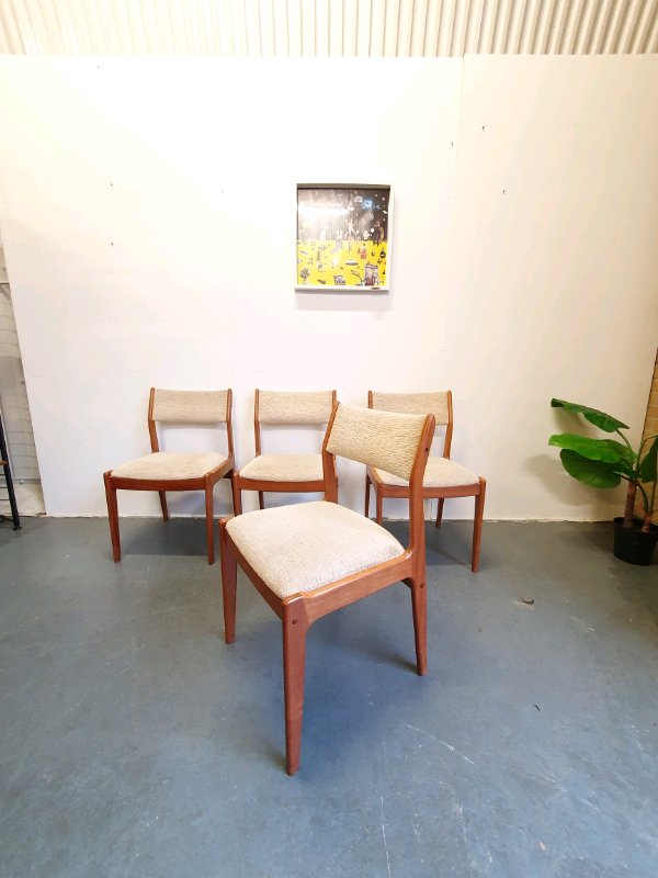 4 Danish Mid Century Chairs By
