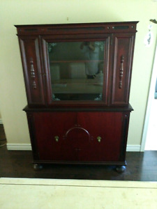 Antique Cabinet made of real cherry wood