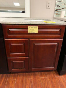 "30"" Dark Cherry bathroom cabinet on CLEARANCE!!"
