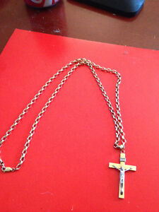 """24"""" 10k chain and pendent"""