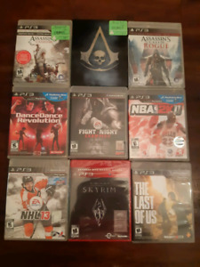 9 PS3 Games (some still sealed!)