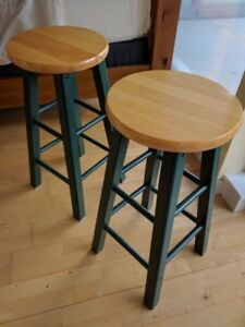 BAR STOOLS WOOD 2 FOR 50.00