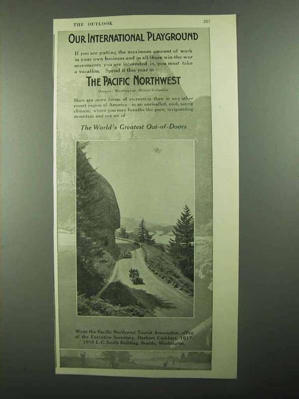 1918 The Pacific Northwest Tourism Ad - Our Playground