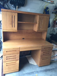 Solid desk with detachable book shelf for sale
