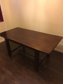 Lovely wooden Marks and Spencer dining table