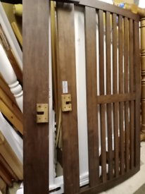 Solid oak double wooden bed frame,