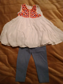 Marks & Spencer Indigo Collection Top & Leggings Outfit 18 Months-2Yr