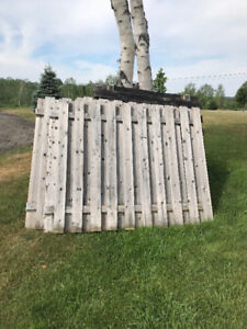 Used wooden fence panels