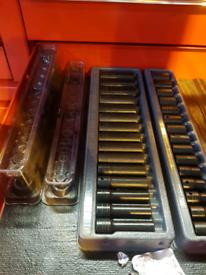 Snap-on sockets x4 sets