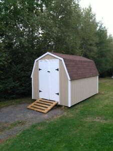 Newly constructed 8' X 12' mini barn/shed