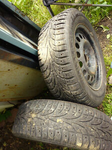 Two 195/60R15 in good shape on rims