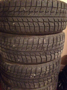 225 60 16 michelin x ice winters - used for a season