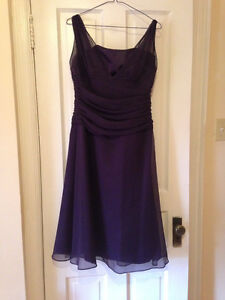 Purple Chiffon Bridesmaid Dress - Medium