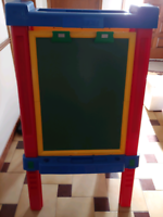 Kids chalk and marker board for writing and drawing.
