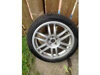 """17"""" TOYOTA CELICA ALLOY WITH GOOD 205/45/17 TYRE"""