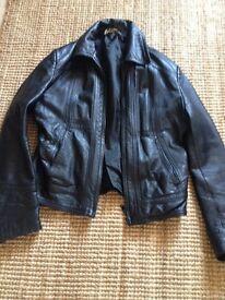 Leather jacket - black - biker