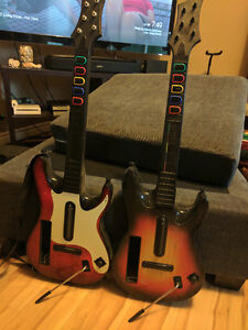 Guitar hero band instruments - Wii
