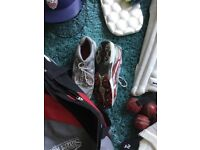Set of cricket clothing and accessories