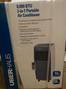 3 in 1, portable air conditioner