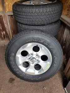 2 sets of tires with rims Windsor Region Ontario image 1