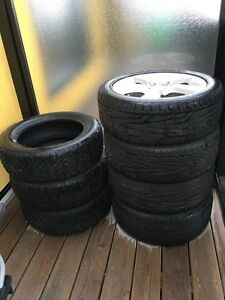 "3 winter tires 16"" and 4 summer tire with mag 17"""