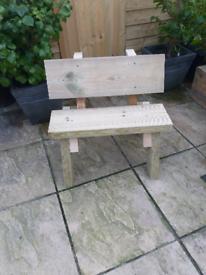 Kids garden bench