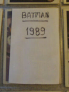 LOT DE CARTES VINTAGE DE BATMAN 1989