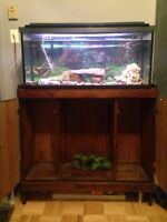 30 gallons fish tank and stand