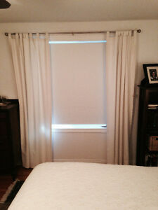 Lovely canvas drapes