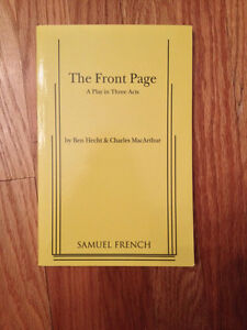 English - The Front Page by Ben Hecht and Charles MacArthur