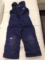 4T boys NORTHFACE bibbed navy snowpants
