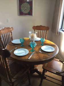 Free Solid Oak Dining Set!!
