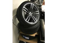 "19"" BMW alloy wheels alloys 5x120 vw Volkswagen vw transporter t5 tyre tyres"