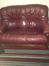 3 seater, 2 seater, arm chair and footstool