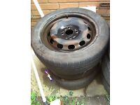 3 x Ford Fiesta mk 6 7 8 15 inch steel wheels tyres OFFERS ACCEPTED