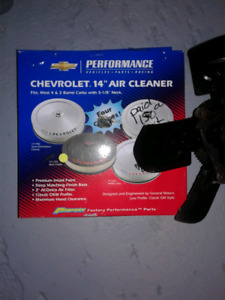 Black never used chevrolet logo air breather